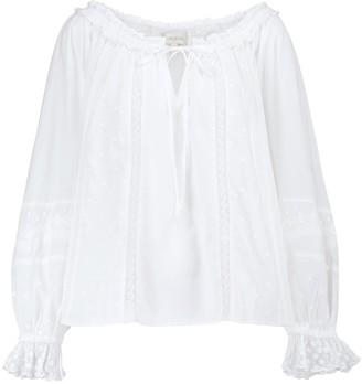 LoveShackFancy Odina cotton lace blouse