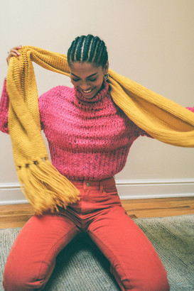 Urban Outfitters Isla Knit Fringe Scarf