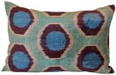 Orientalist Home Iza Ikat 16x24 Pillow - Blue