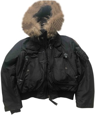 Parajumpers Black Leather Jacket for Women