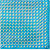 Barneys New York Men's Circle-Print Silk Pocket Square
