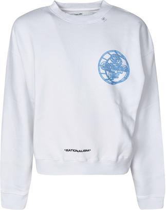 Off-White 3d Crossed Off Over Crewneck Sweatshirt