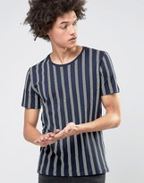 Selected Homme T-Shirt with Vertical Stripe