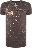 Religion Bleach Splatter Short Sleeve T-shirt