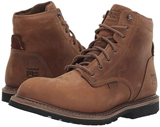 Timberland Millworks 6 Soft Toe Waterproof (Brown Gaucho) Men's Work Boots
