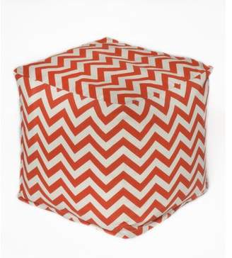 Oc Fun Saks Chevron Bean Bag Chair OC Fun Saks Upholstery: Orange