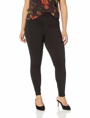 Hue Women's Plus Size Curvy Fit Denim Jean Leggings