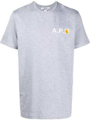 A.P.C. short sleeve logo T-shirt