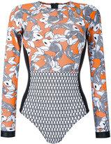 The Upside sea of koi print paddle suit