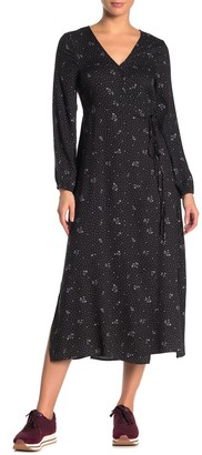 Cotton On Long Sleeve Midi Wrap Dress
