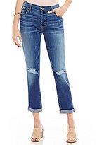 7 For All Mankind Josefina Destructed Boyfriend Jeans