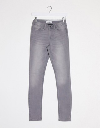 JDY jake regular skinny jeans in grey denim