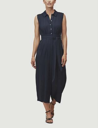 Whistles Zara sleeveless crepe jumpsuit