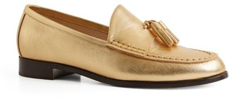 Sandro Paris Metallic Tassel Loafers