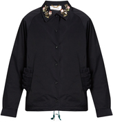 Muveil Point-collar embellished jacket