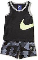 Nike Baby Boys 12-24 Months Solid Tank Top & Zinc Printed Shorts Set