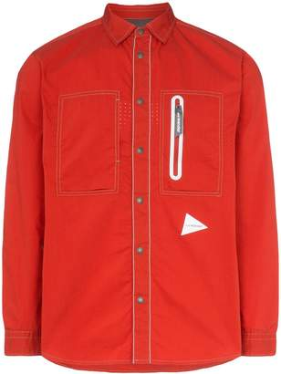 and Wander Laser long-sleeved zip pocket shirt