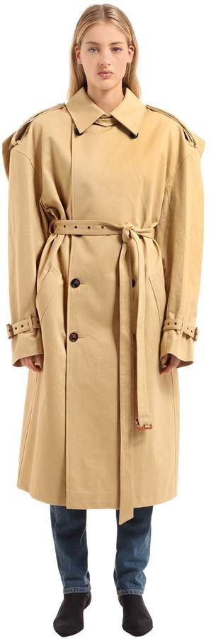 Y/Project Oversized Cotton Gabardine Trench Coat