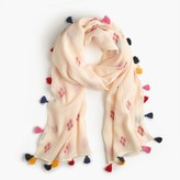 J.Crew Diamond jacquard scarf with tassels