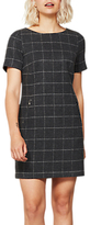 Mint Velvet Check Dress, Dark Grey
