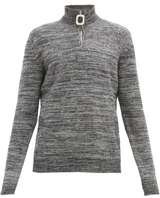 J.W.Anderson Roll-neck Merino-wool Sweater - Brown
