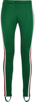 Gucci Striped Jersey Leggings - Dark green