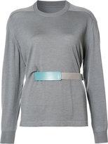 Maison Margiela belted top - women - Silk/Wool - S