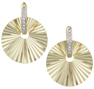 Phillips House Aura 14K Yellow Gold & Diamond Offset Huggie Hoop Earrings