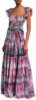Diane von Furstenberg Lexie Tie-Dye Belted Maxi Dress