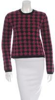 Prada Wool Plaid Sweater