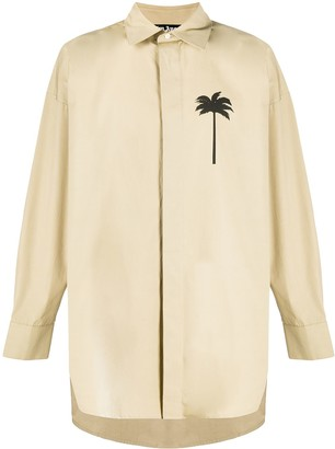 Palm Angels Palm-Printed Oversized Shirt