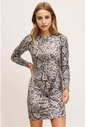 Dynamite Danielle Dress - FINAL SALE Snakeskin Pattern