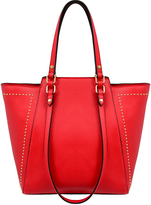 Mellow World Red Marina Studded Tote