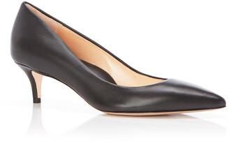 Marion Parke Must Have Leather Kitten-Heel Pumps
