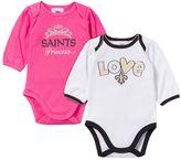 Gerber Baby New Orleans Saints 2-Pack Long Sleeve Bodysuit