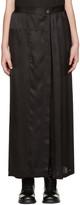 Ann Demeulemeester Black Long Button Skirt
