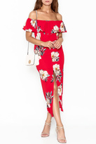 Promesa Floral Red Dress