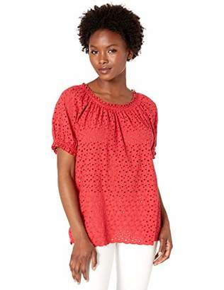Velvet by Graham & Spencer Women's Pamela Cotton Eyelet Blouse