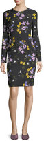 Erdem Evita Long-Sleeve Floral Dress