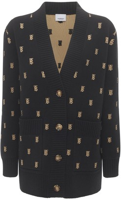 Burberry Palena Logo Wool Blend Cardigan