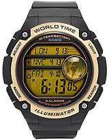 Casio Men's Black & Gold World Time Watch
