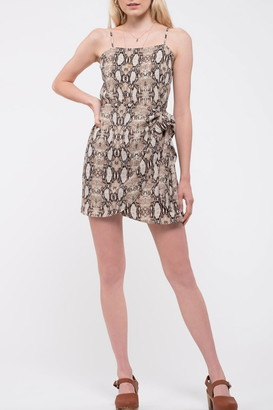 Blu Pepper Snake Print Sleeveless Dress