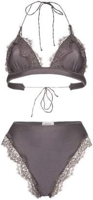Oseree Travaille lace triangle bikini