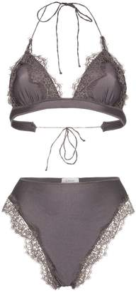 Oseree Travaille lace triangle bikini