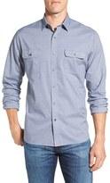Maker & Company Men's Regular Fit Stripe Textured Sport Shirt