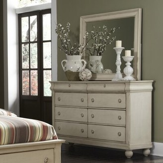 Charlton Home Warlick 8 Drawer Double Dresser with Mirror Charlton Home