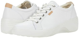Ecco Soft 7 Wedge Classic Sneaker (White Cow Leather) Women's Shoes