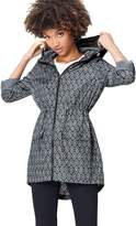 Find. find. Women's Raincoat in Floral Pac-a-Mac with Drawstring Hood and Waist and Zip Fastening