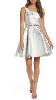 Mac Duggal Women's Embellished Metallic Fit & Flare Dress