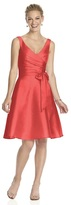Alfred Sung D624 Bridesmaid Dress in Firecracker